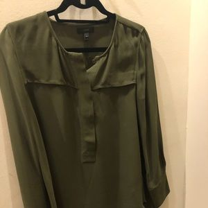 J Crew army green blouse